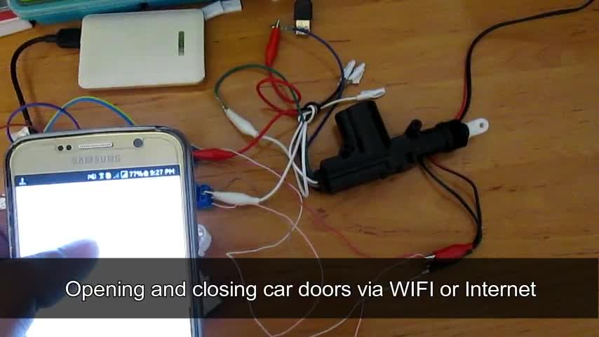 Control Car doors pump with NodeMCU